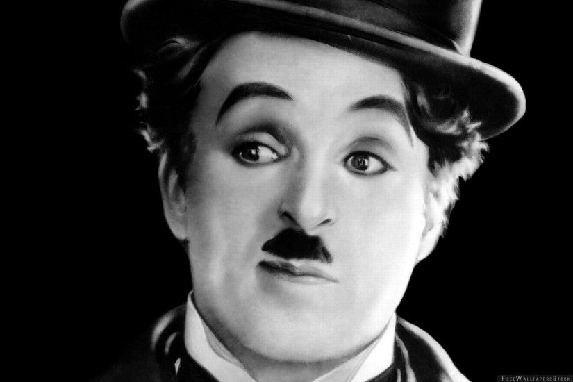 Download Free Wallpaper Charlie Chaplin Actor Comedian Hat Mustache Style  Black White
