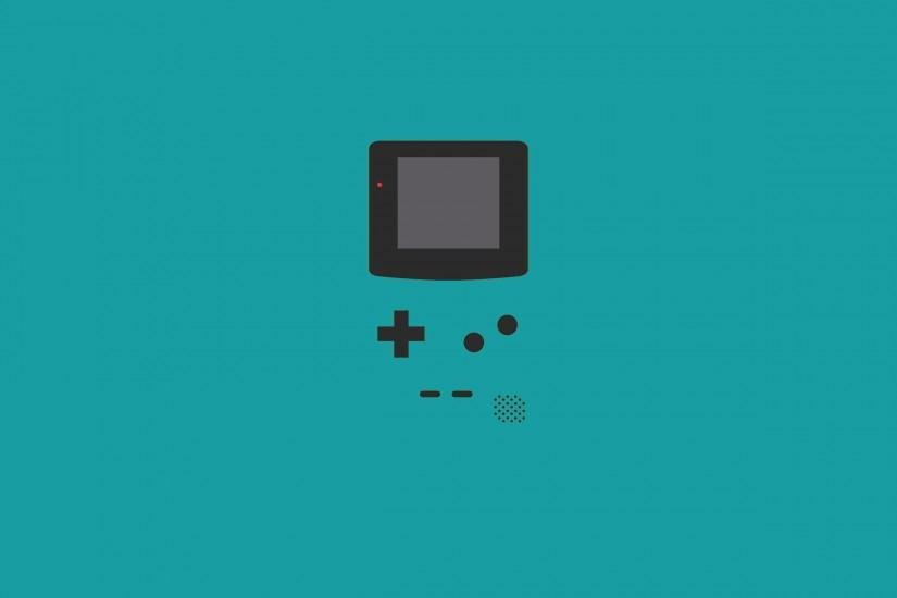 Game console Nintendo, blue background