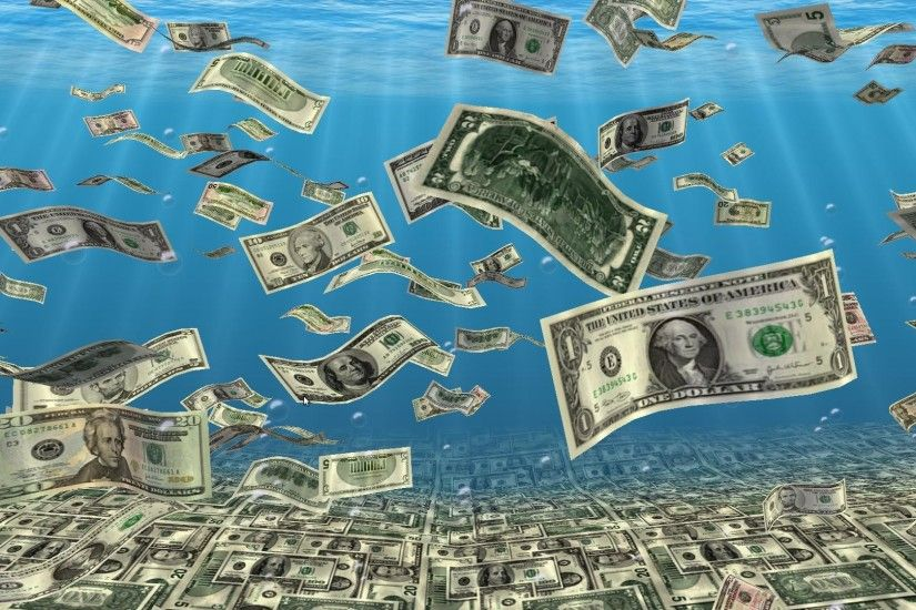 3D Falling Money Wallpaper