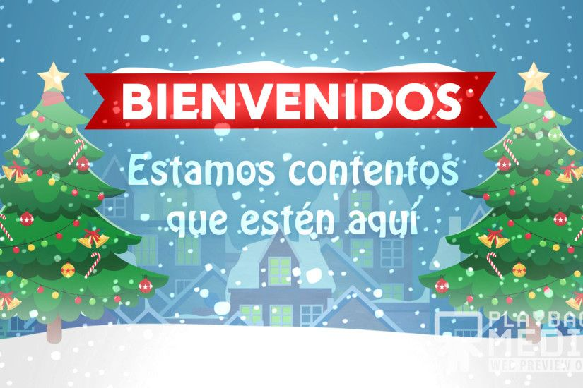 Christmas Village Welcome Still Background - Spanish Image