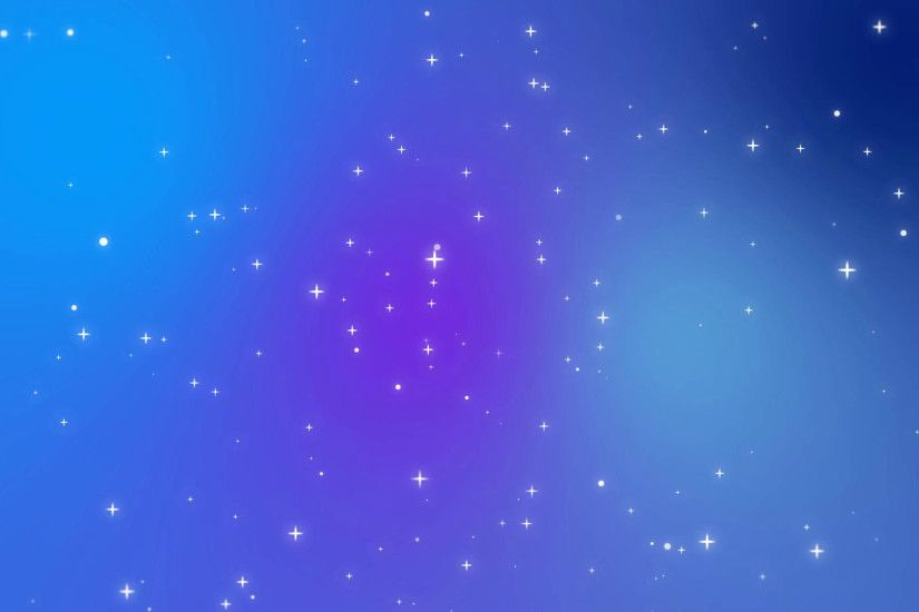 Subscription Library Sparkly white star light particles moving across a  purple blue gradient background imitating night sky full