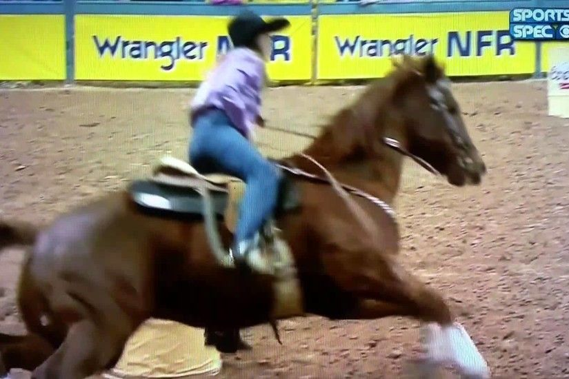 2015 NFR Round 5 Barrel Racing