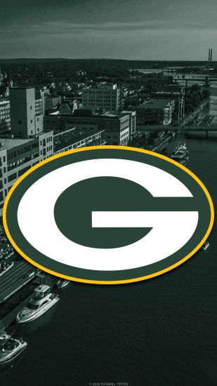 ... Green Bay Packers city 2017 logo wallpaper free iphone 5, 6, 7, galaxy