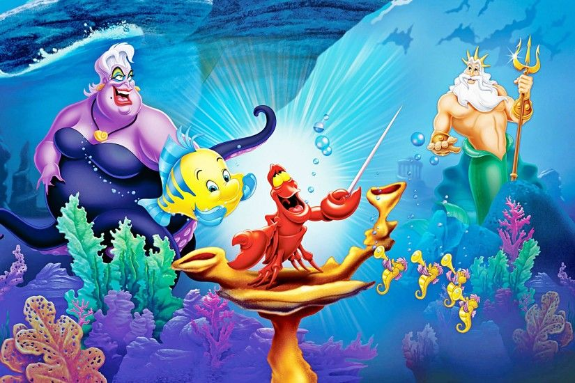 LITTLE MERMAID disney fantasy animation cartoon adventure family ariel  princess ocean sea underwater wallpaper