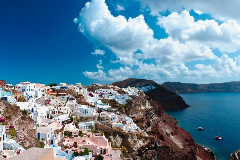Santorini Greece HD Wallpaper