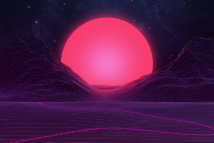 download synthwave wallpaper 1920x1080 retina