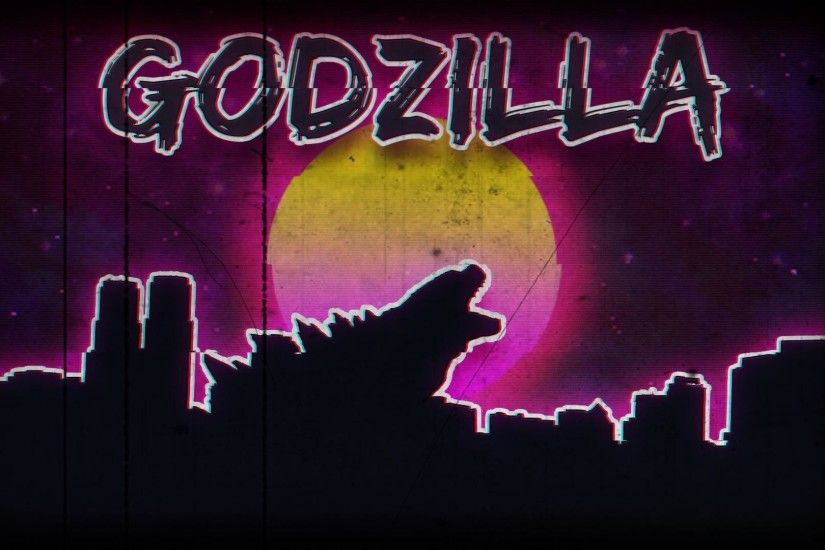 A retro 80s style godzilla wallpaper I threw together in photoshop.  [1920x1080]