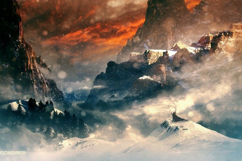mountain, The Hobbit, Snow Wallpaper HD