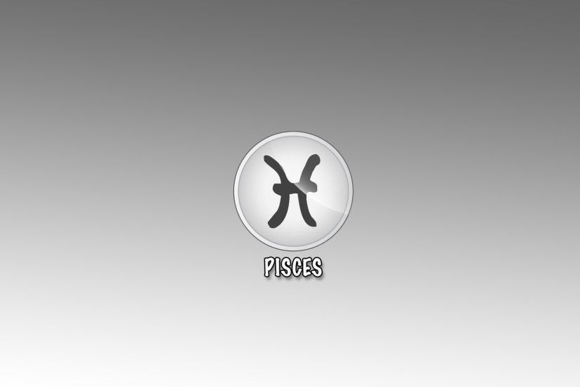 Sign pisces on the gray background