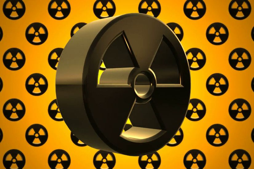 Black Yellow Nuclear Radioactive Radiation Symbol Logo Motion Background -  VideoBlocks