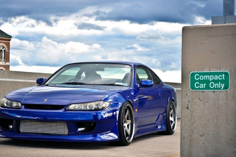 1920x1080 Wallpaper blue, car, nissan silvia, beautiful, chuck, nissan