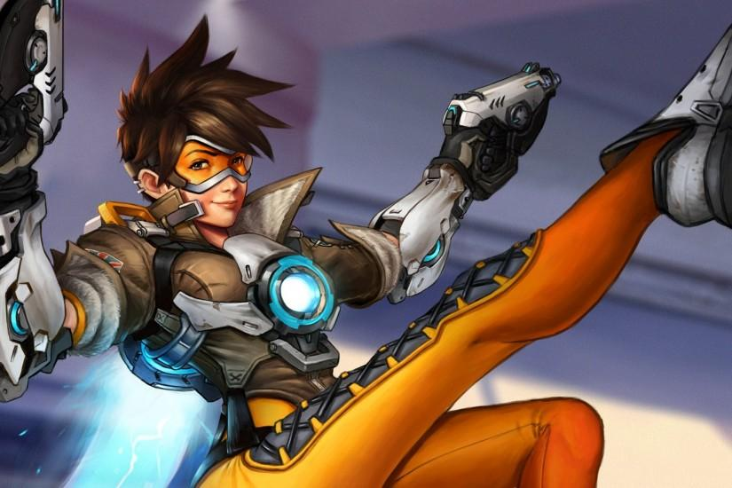 overwatch tracer wallpaper 1920x1080 ipad retina