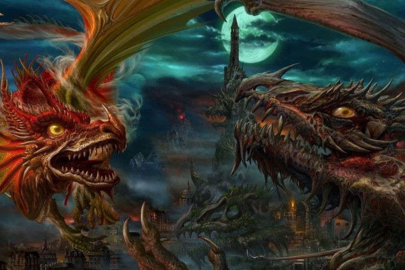 Awesome Dragon Fight | HD 3D and Abstract Wallpaper Free Download ...