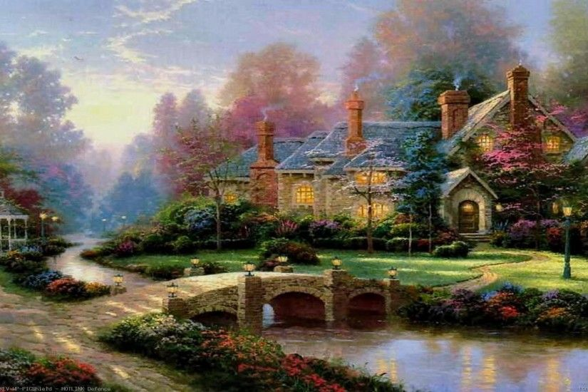 Thomas-Kinkade-Summer-Paintings-Thomas-Kinkade-Paintings-Art-