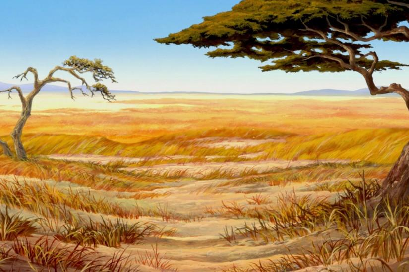 Great background for Lion King Kids musical production.
