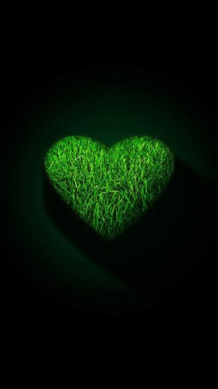 Wallpaper xiaomi mi3 mi4 full hd 1080 1920 green heart