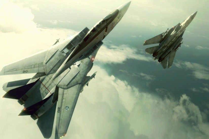 CGI, Video Games, Airplane, Aircraft, F 14 Tomcat, Ace Combat Wallpapers HD  / Desktop and Mobile Backgrounds