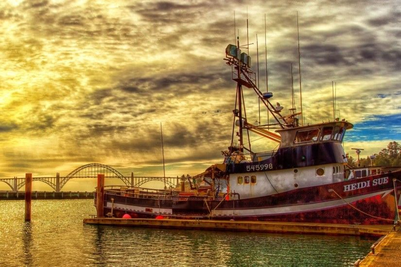 Fishing Boat Wallpaper - WallpaperSafari