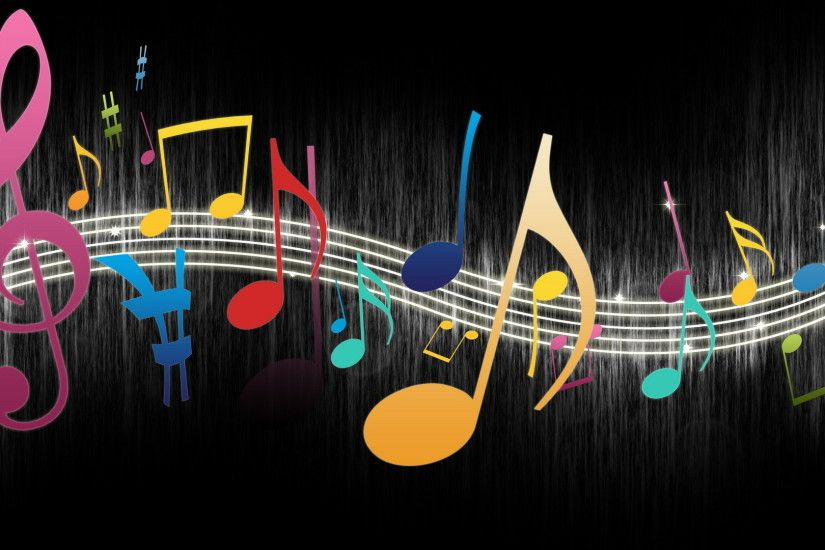 Colorful Music Notes - wallpaper.