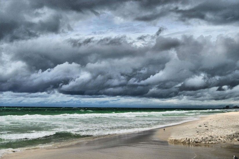 clouds, beach,storm, sky, weather, sea, rainfree background images, nature,  ocean, background, macbook, rivers, mobile, waves Wallpaper HD