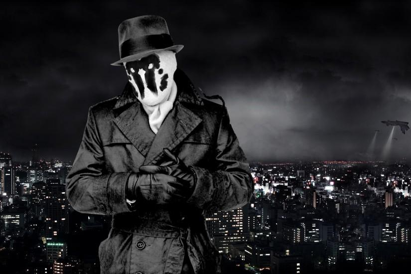 watchmen rorschach movies comics art cities night lights wallpaper