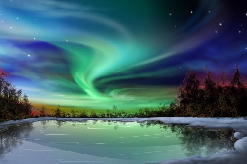 download northern lights wallpaper 1920x1200 windows xp