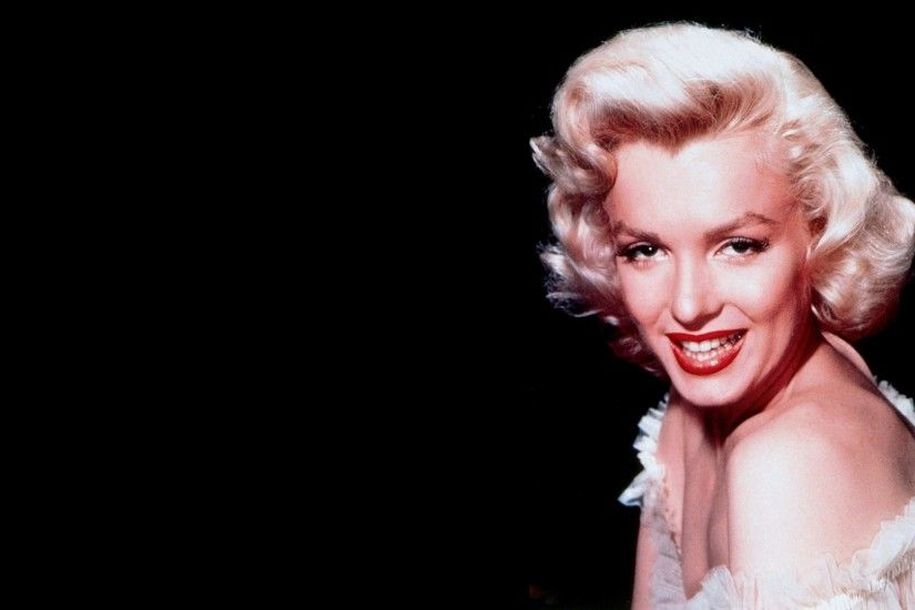 1920x1080 Wallpaper marilyn monroe, girl, blonde, shoulder, teeth