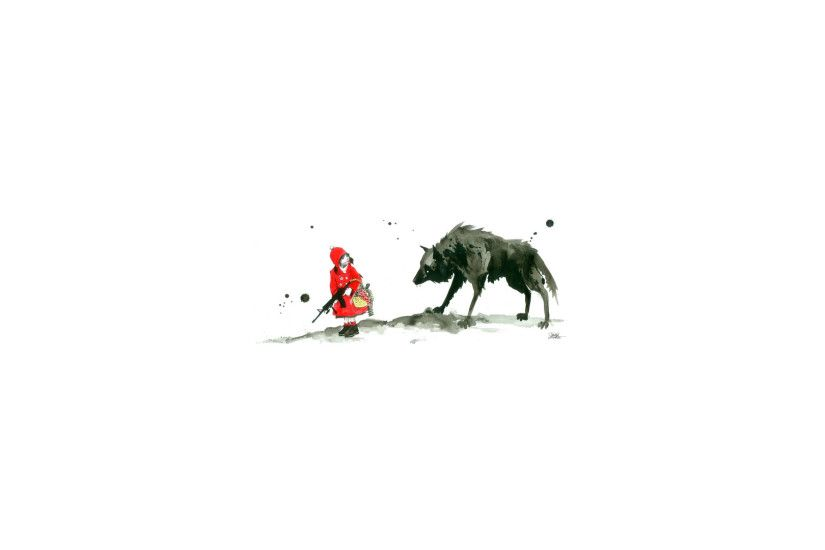 Abstract Big Bad Wolf Books Fairytales Fairy Tales Literature Little Red  Riding Hood Threadless