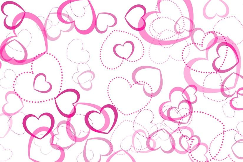 Pink hearts wallpaper