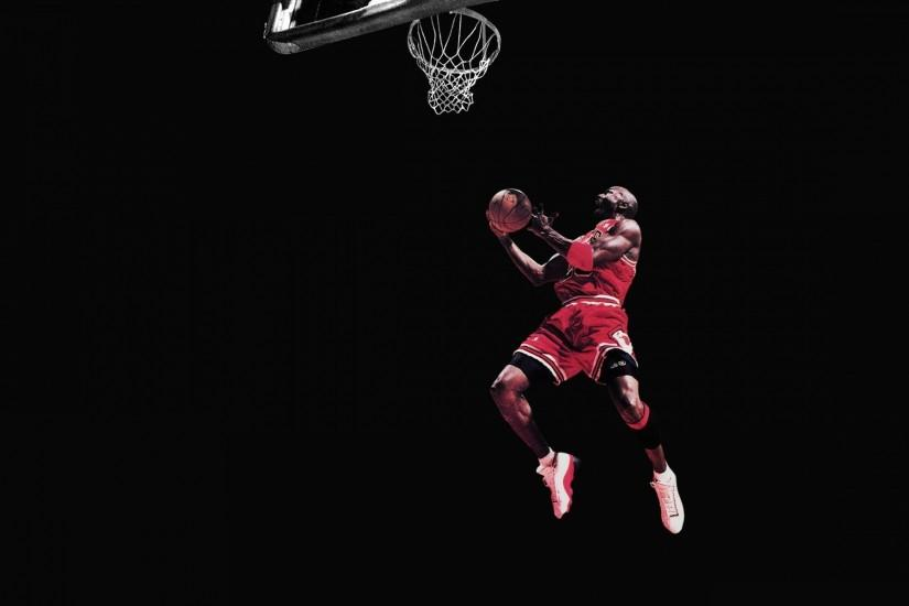 Michael Jordan Chicago Bulls Basketball Jump Black wallpaper .