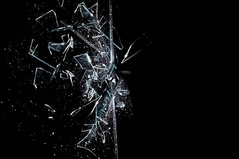Abstract Broken Glass Desktop Background Wallpaper HD - dlwallhd.