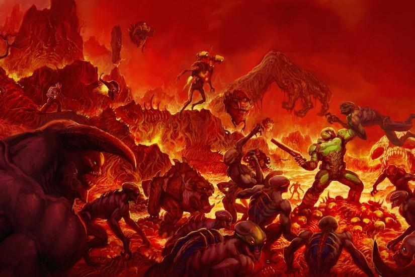 widescreen doom wallpaper 3840x2160 image