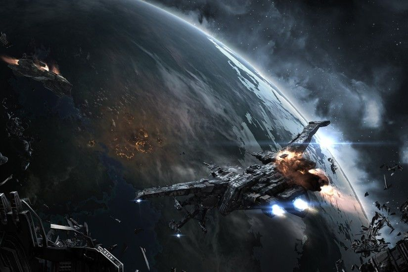 EVE Online, Space, Spaceship, Caldari, Space Battle Wallpapers HD / Desktop  and Mobile Backgrounds