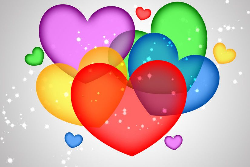 STRING LOVE WALLPAPER. COLORFUL HEARTS WALLPAPER. DOWNLOAD
