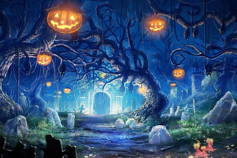 halloween desktop wallpaper 1920x1080 ios
