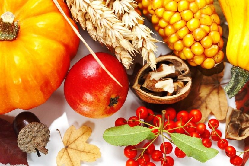 Apple Fall Thanksgiving Nuts Berries Maze Leaves Squash Autumn Corn Garden  Harvest Free Desktop Background - 1920x1080