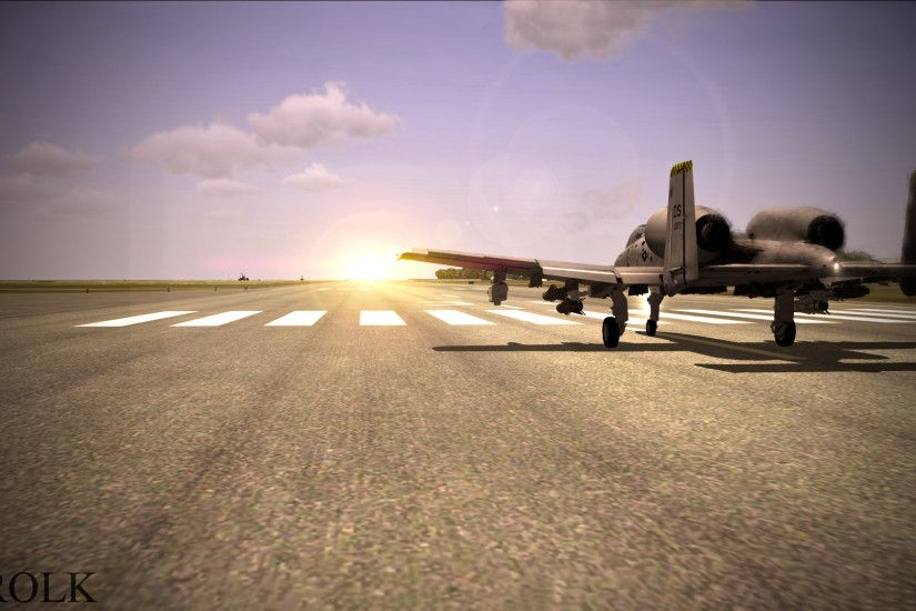 ... DCS A-10 Warthog Sunset by aerolk