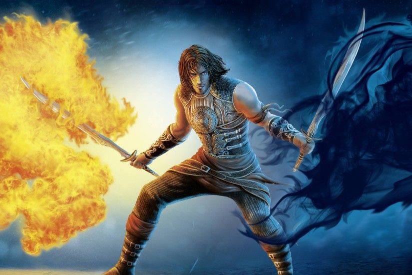 Preview wallpaper prince of persia, sword, fire, ios, android 3840x2160