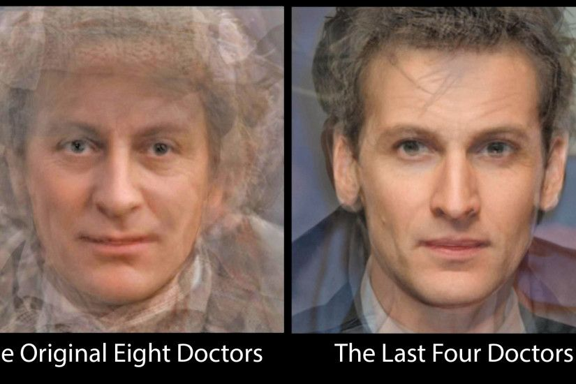 Facial Composite of the Original 8 Doctor Who Actors and the 4 Latest  Doctors