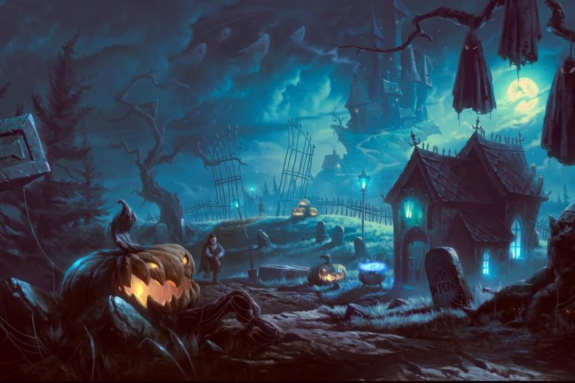 halloween backgrounds for desktop hd wallpaper 3D