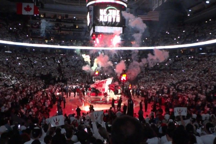 Playoff Atmosphere: Toronto Raptors Game 5 Player Introduction - YouTube