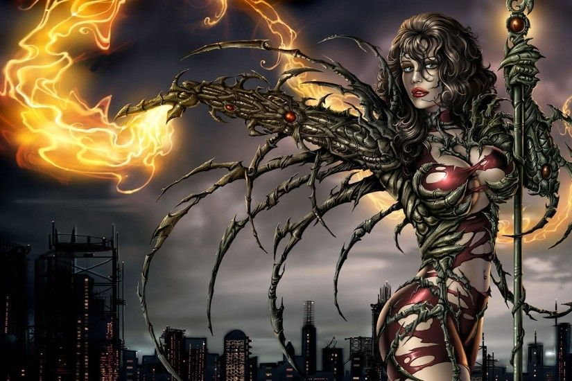 fantasy Art, Magic, Witchblade, Sara Pezzini, Comic Art, Comic Books  Wallpapers HD / Desktop and Mobile Backgrounds
