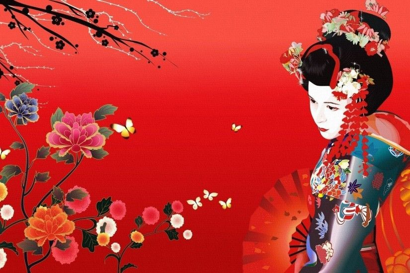 Geisha Wallpaper HD