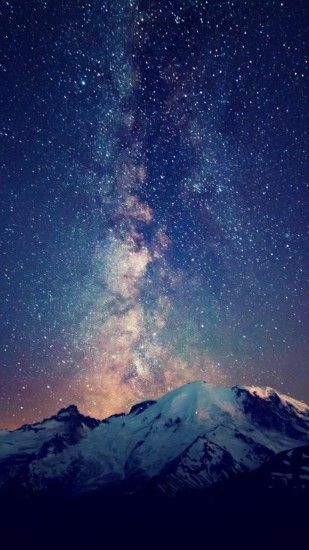 Milky way galaxies landscapes mountains nature wallpaper | (87269)