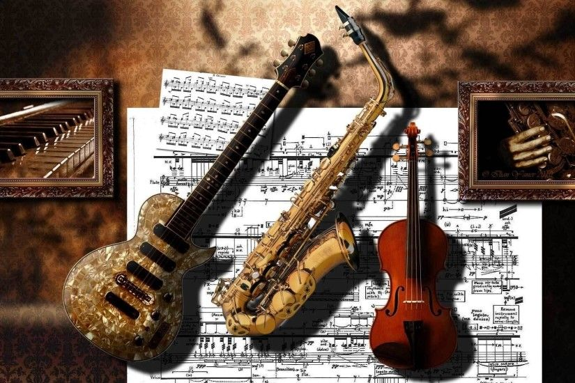 HD Music Instruments Wallpaper
