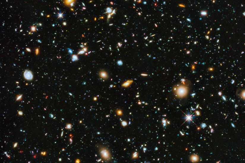 Hubble Ultra-Deep Field (HUDF) image (full range of ultraviolet to  near-infrared light) includes some of the most distant galaxies to have  been imaged by an ...