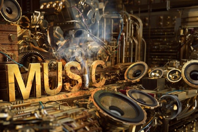 music, Steampunk Wallpaper HD