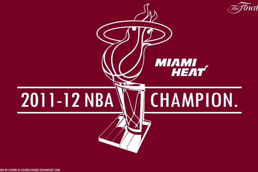 Miami Heat 2012 NBA Champions 1920×1200 Vector Wallpaper