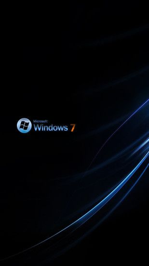 windows 7 rich black S5 Wallpaper