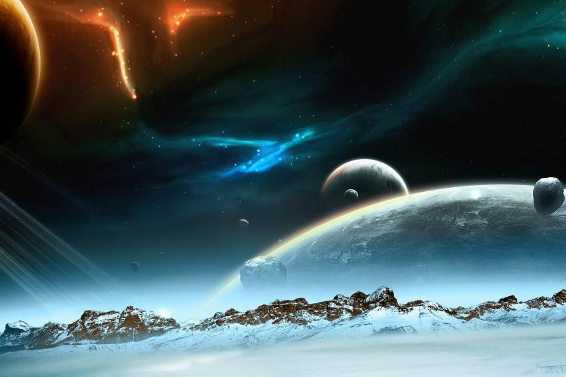 space background hd 1920x1200 ipad